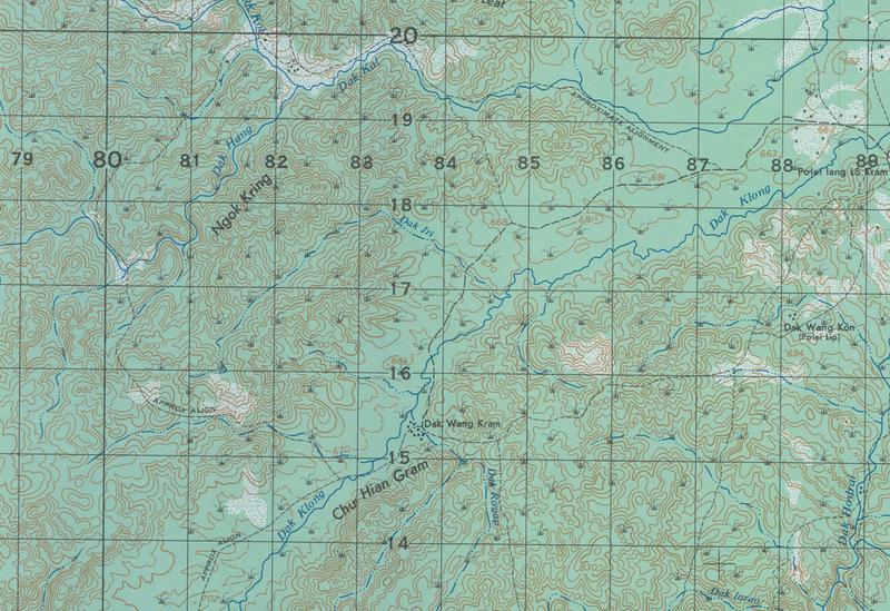 Dak To, Vietnam (Western Hills) Topographical Map