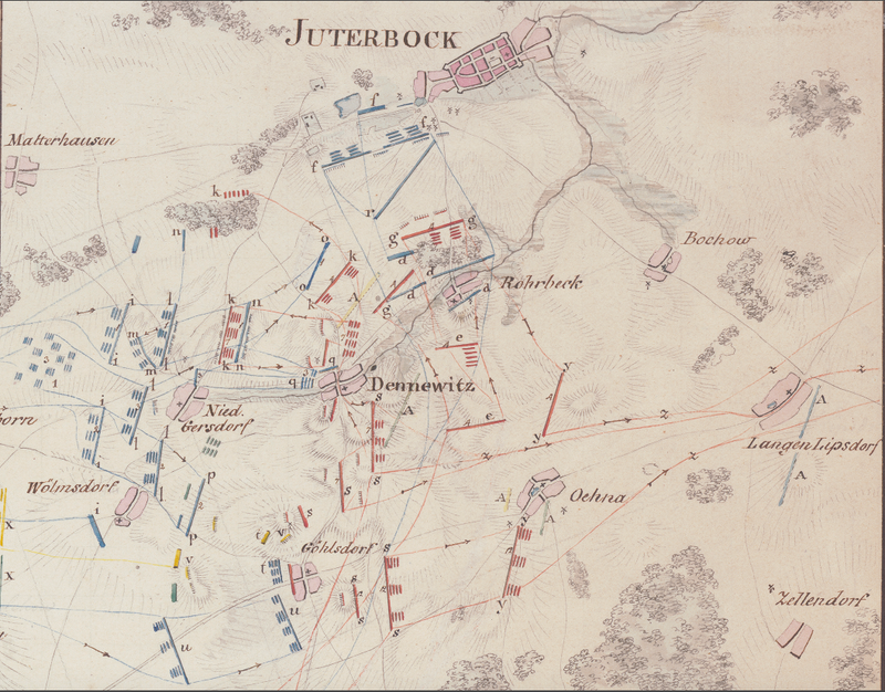Battle Archives Map Dennewitz 1813 French Battle Map