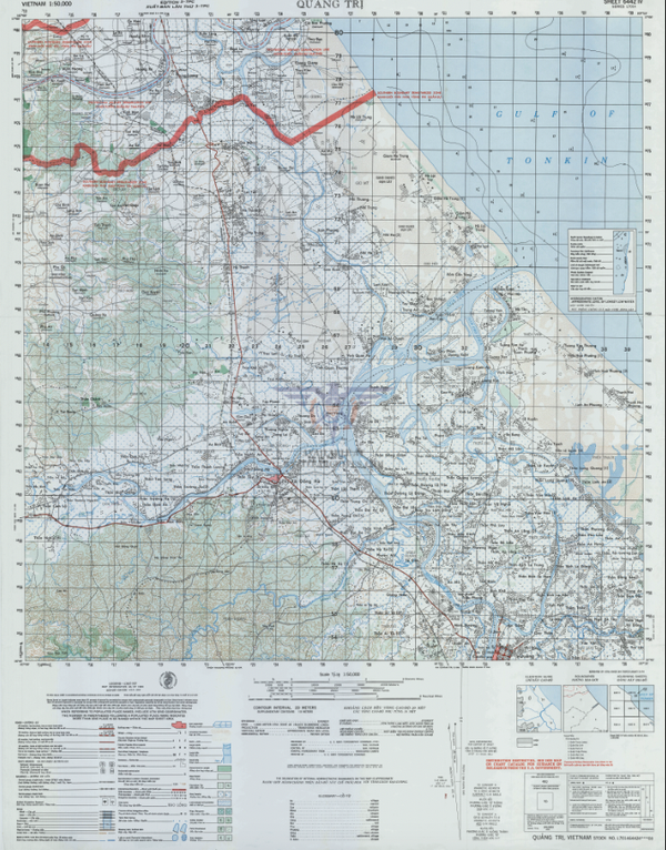 Battle Archives Map Dong Ha, Vietnam Topographical Map