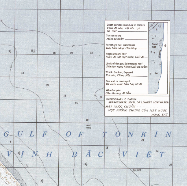 Battle Archives Map Dong Hoi, Vietnam Topographical Map