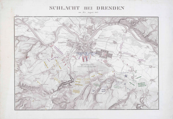 Battle Archives Map Dresden 1813 Battle Map