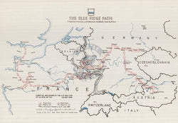 Battle Archives Map European Campaign, 80th Infantry Division