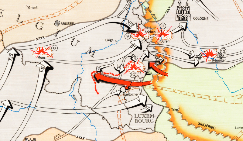 Battle Archives Map European Campaign, First US Army #2