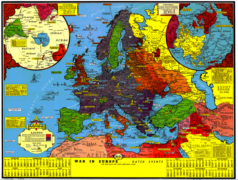Battle Archives Map European Theater of Operations 1939-1944