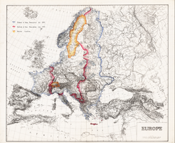 Battle Archives Map European Theater of Operations 1944-1945 #2