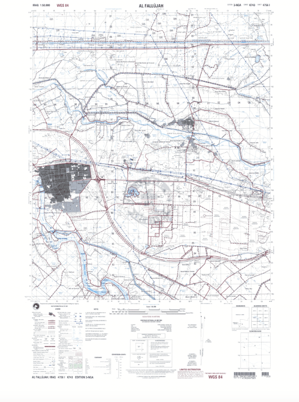 Battle Archives Map Fallujah, Iraq
