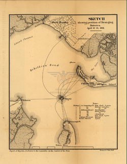 Battle Archives Map Fort Sumter April 1861 Bombardment Battle Map