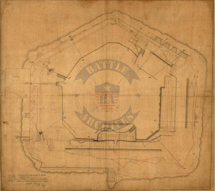 Battle Archives Map Fort Sumter, South Carolina #1