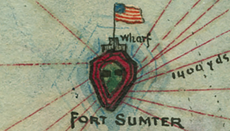 Battle Archives Map Fort Sumter, South Carolina #2