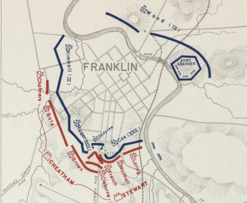 Battle Archives Map Franklin, Tennessee #2