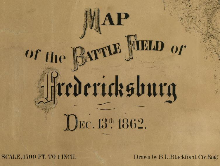 Battle Archives Map Fredericksburg, Virginia #1