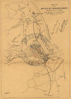 Battle Archives Map Fredericksburg, Virginia #2