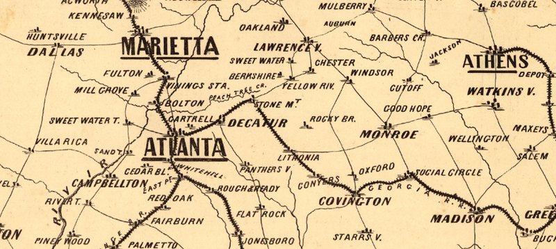 Battle Archives Map Georgia