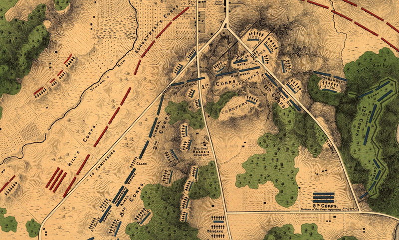 Battle Archives Map Gettysburg #3