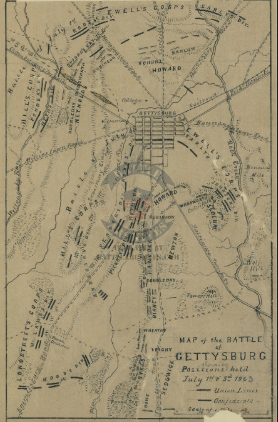 Battle Archives Map Gettysburg #5