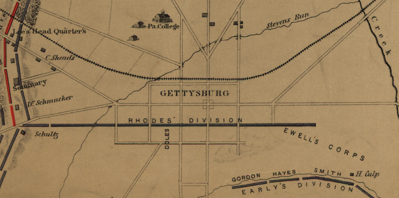 Battle Archives Map Gettysburg #9