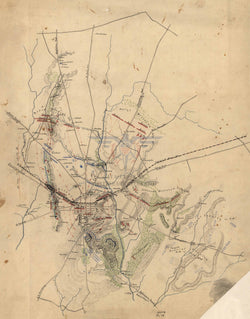 Battle Archives Map Gettysburg Confederate Map with Movements Battle Map