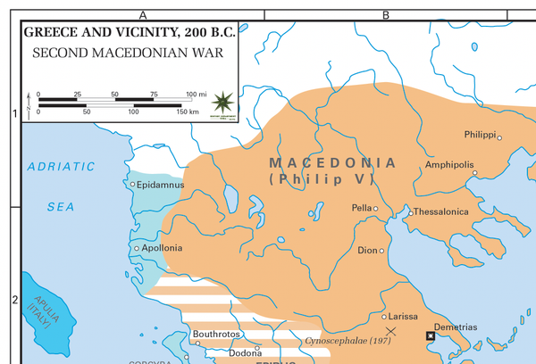Battle Archives Map Greece During Second Macedonian War