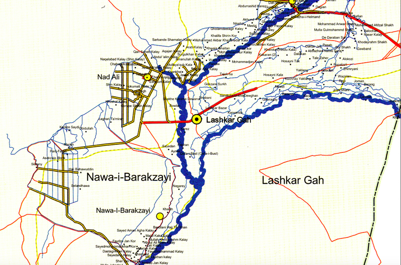 Battle Archives Map Helmand Province, Afghanistan