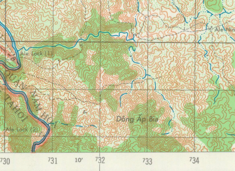 Battle Archives Map Hill 937, Vietnam (Hamburger Hill)