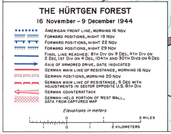 Battle Archives Map Hurtgen Forest Regimental Level Battle Map