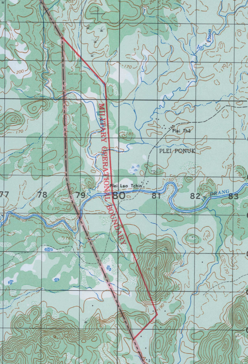 Battle Archives Map Ia Drang Valley