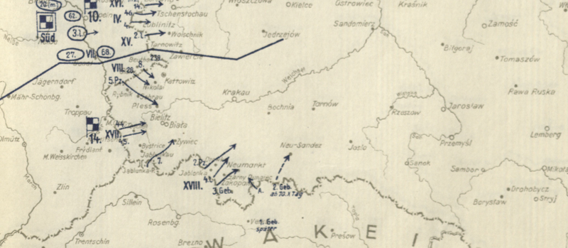 Battle Archives Map Invasion of Poland