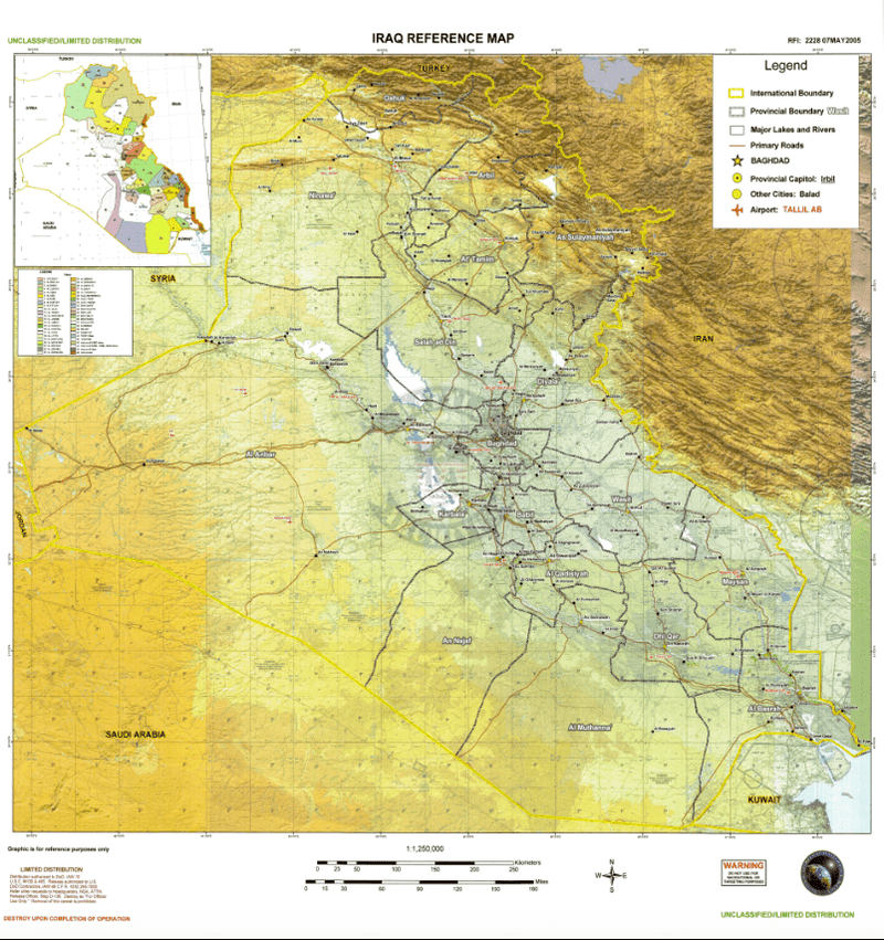 Battle Archives Map Iraq #1