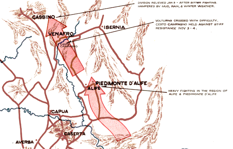 Battle Archives Map Italian Campaign, 45th Infantry Division #1