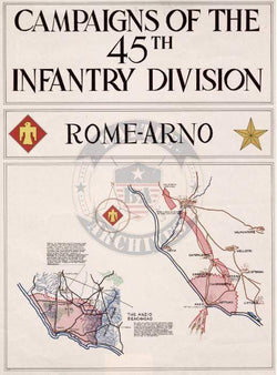 Battle Archives Map Italian Campaign, 45th Infantry Division