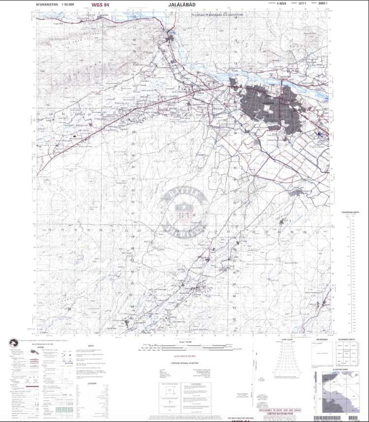 Battle Archives Map Jalalabad, Afghanistan