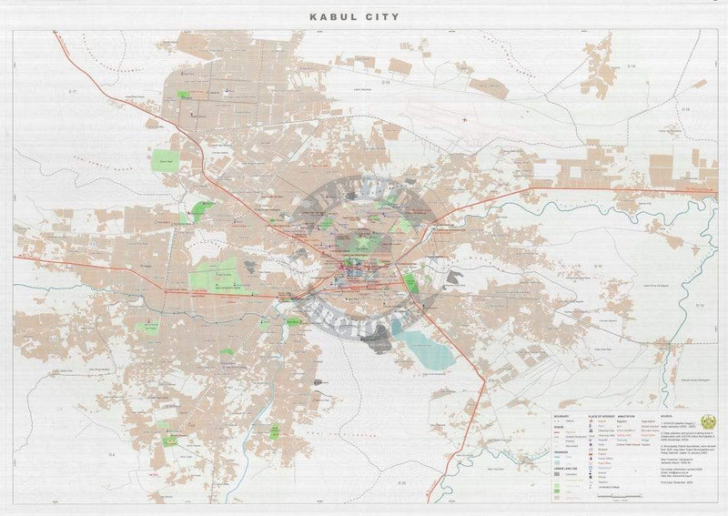 Battle Archives Map Kabul, Afghanistan #1