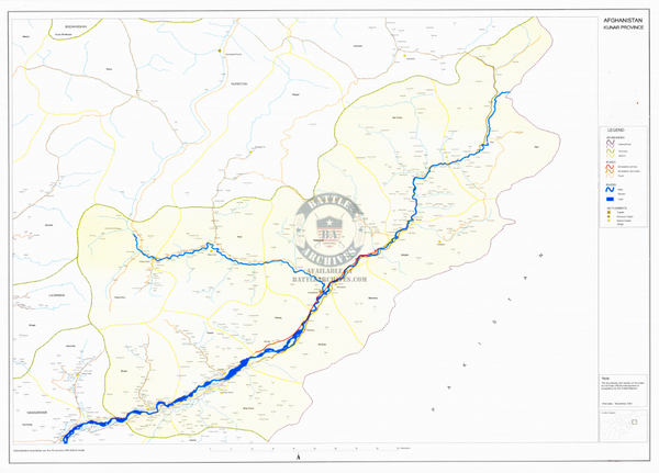 Battle Archives Map Kunar Province, Afghanistan