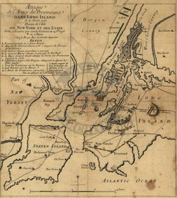 Battle Archives Map Long Island (or Brooklyn or Brooklyn Heights), New York #2