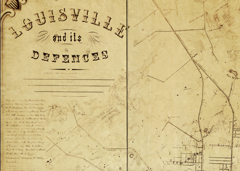 Battle Archives Map Louisville, Kentucky