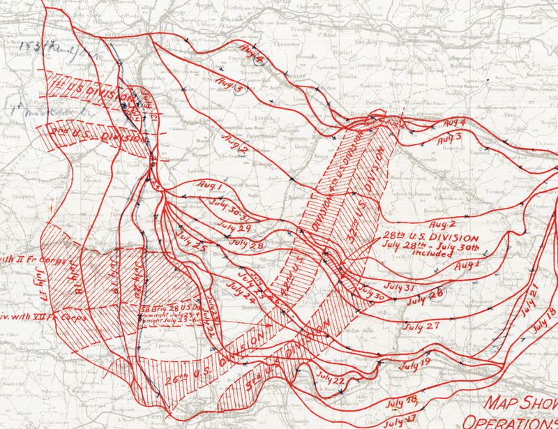 Battle Archives Map Marne II