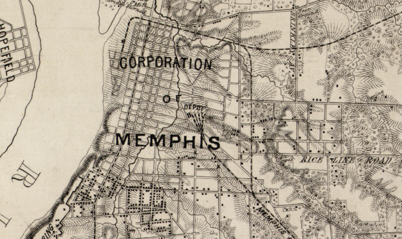 Battle Archives Map Memphis, Tennessee
