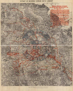 Battle Archives Map Meuse-Argonne Offensive #1