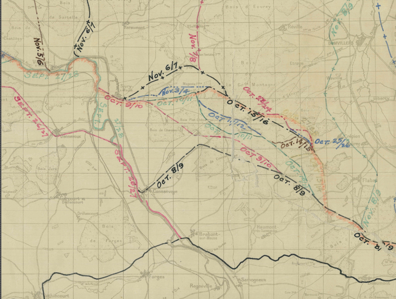 Battle Archives Map Meuse-Argonne Offensive #3