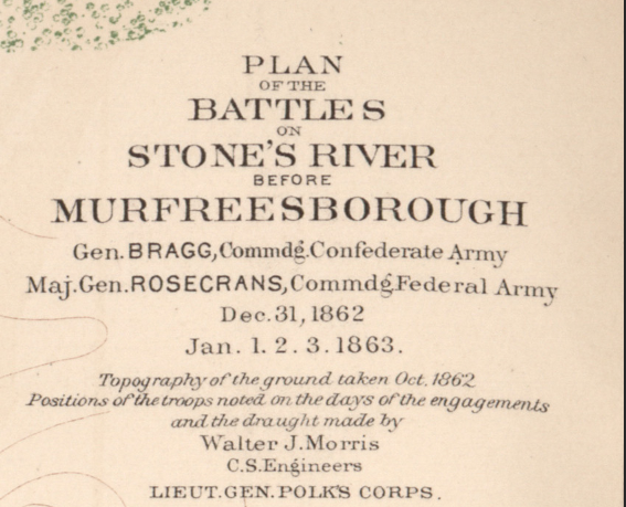 Battle Archives Map Murfreesborough, Tennessee #2