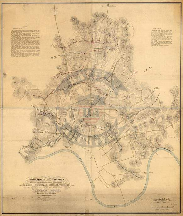 Battle Archives Map Nashville, Tennessee #3