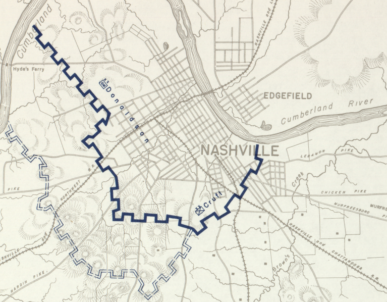 Battle Archives Map Nashville, Tennessee #4