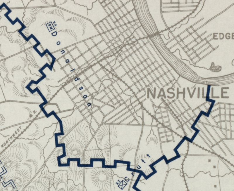 Battle Archives Map Nashville, Tennessee #5