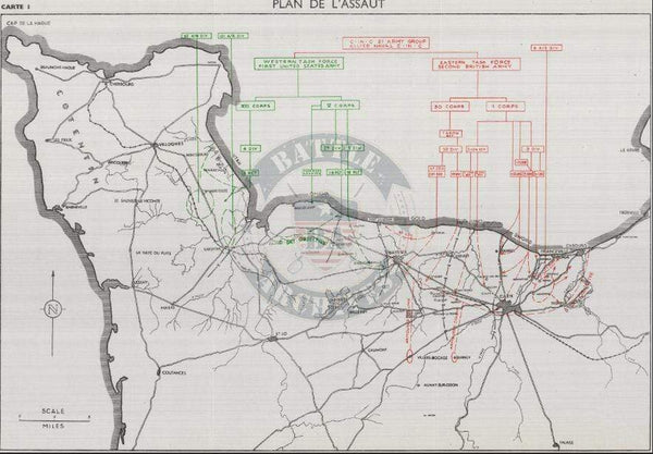 Battle Archives Map Normandy #5