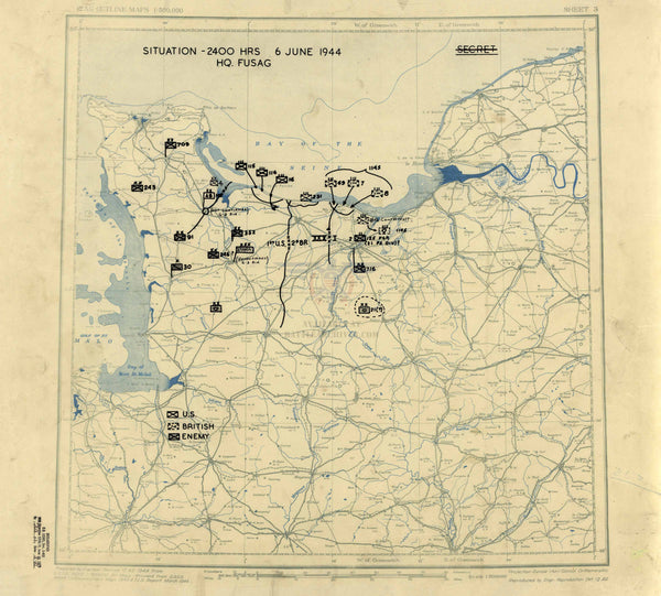 Battle Archives Map Normandy D-Day Assault Battle Map