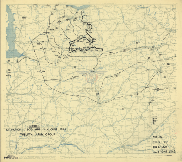 Battle Archives Map Normandy-Falaise Pocket Battle Map