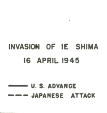 Battle Archives Map Okinawa #3 (Ie Shima)