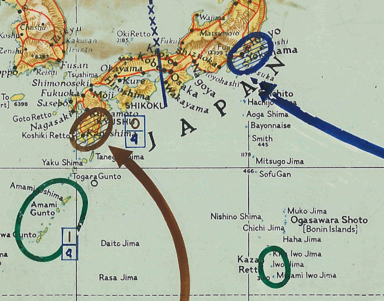 Battle Archives Map Operation Downfall Planning Battle Map