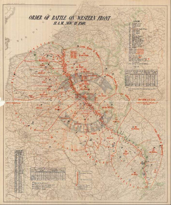 Battle Archives Map Order of Battle at Armistice #1