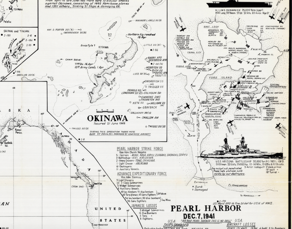 Battle Archives Map Pacific Theater of Operations #1